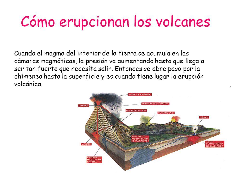 Cómo erupcionan los volcanes