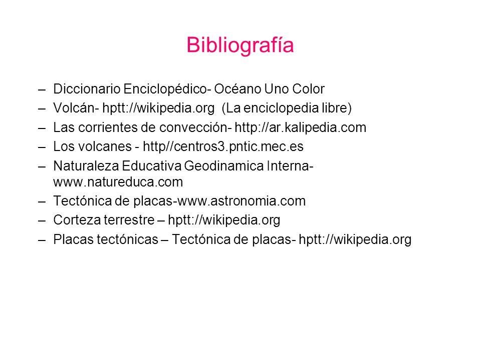 Bibliografía Diccionario Enciclopédico- Océano Uno Color