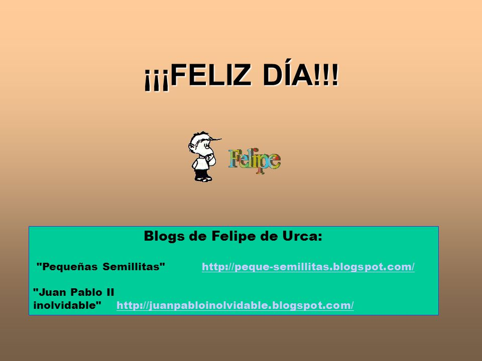 Blogs de Felipe de Urca: