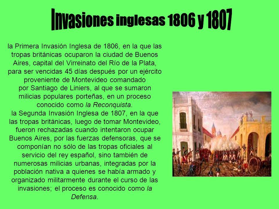 Invasiones inglesas 1806 y 1807