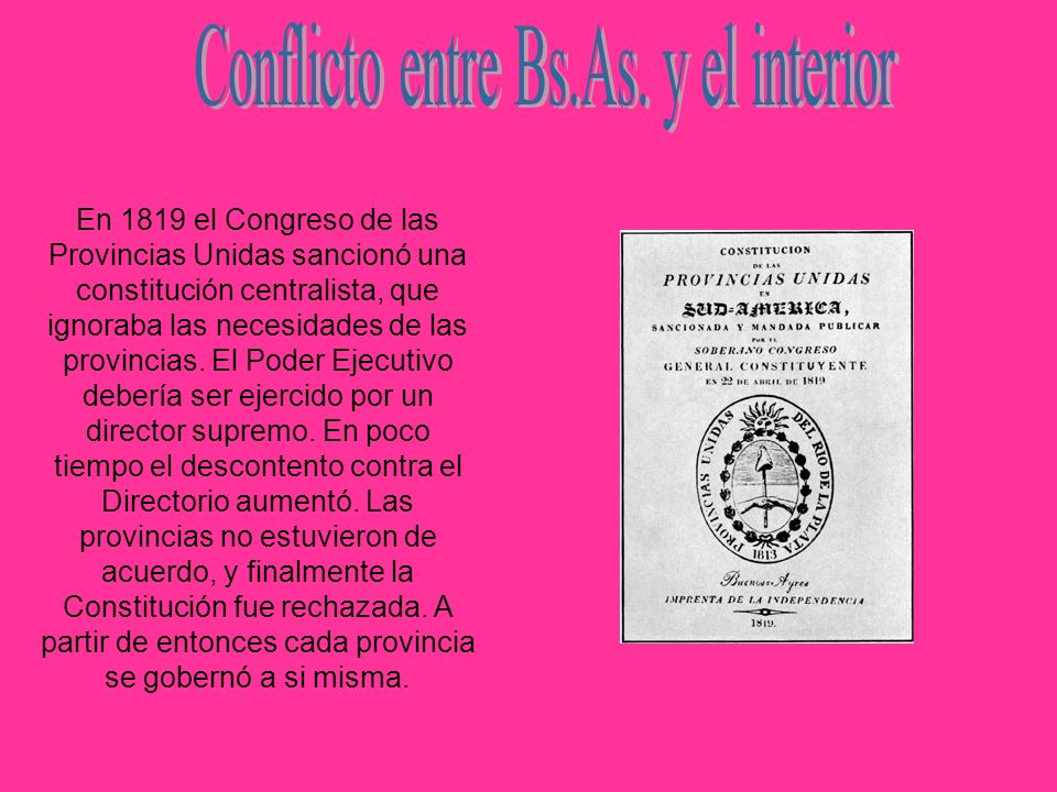 Conflicto entre Bs.As. y el interior