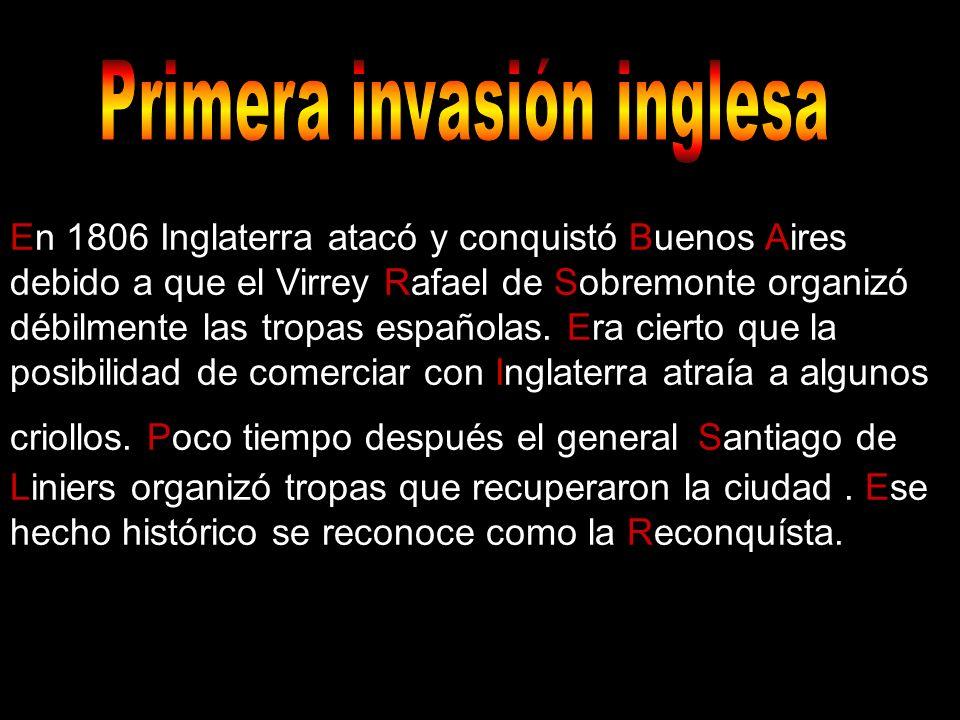 Primer invación inglesa Primera invasión inglesa