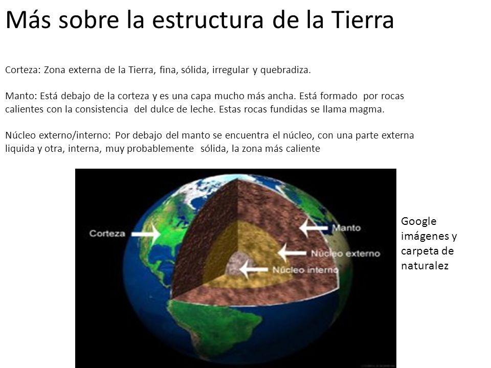 Más sobre la estructura de la Tierra