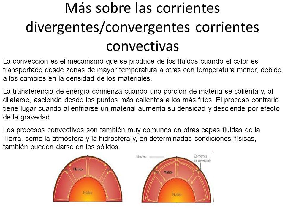 Más sobre las corrientes divergentes/convergentes corrientes convectivas