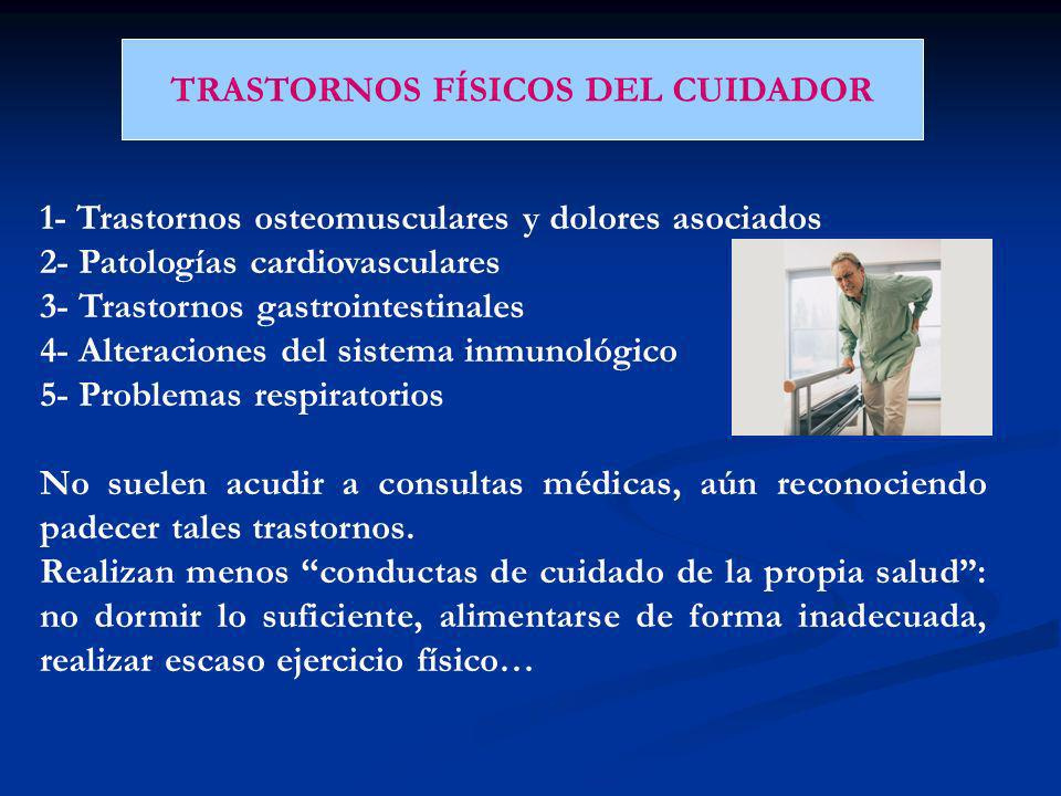 TRASTORNOS FÍSICOS DEL CUIDADOR