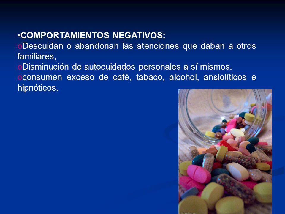 COMPORTAMIENTOS NEGATIVOS: