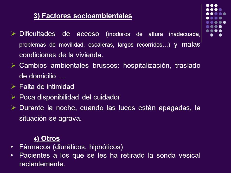 3) Factores socioambientales