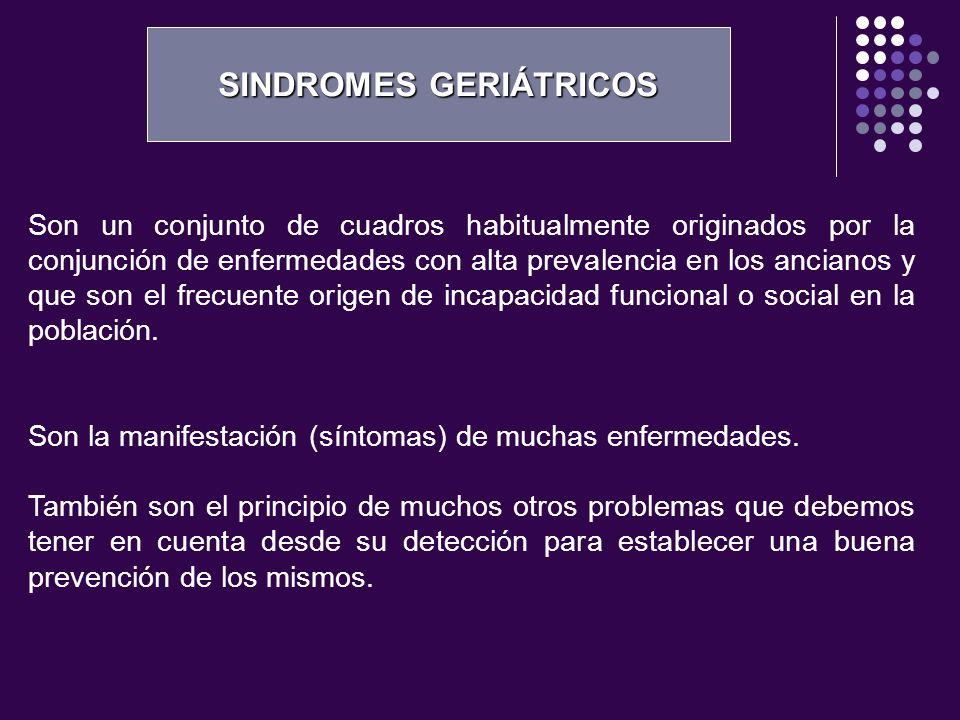 SINDROMES GERIÁTRICOS