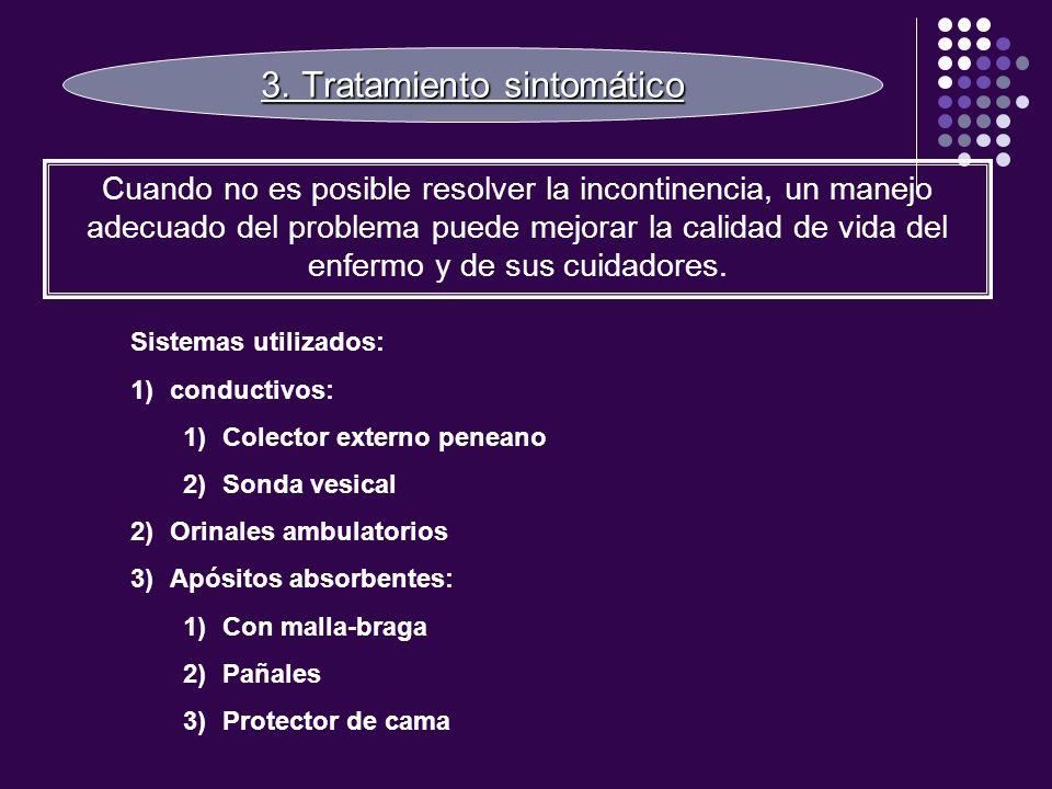 3. Tratamiento sintomático