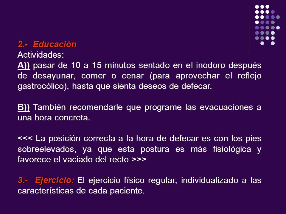 2.- EducaciónActividades: