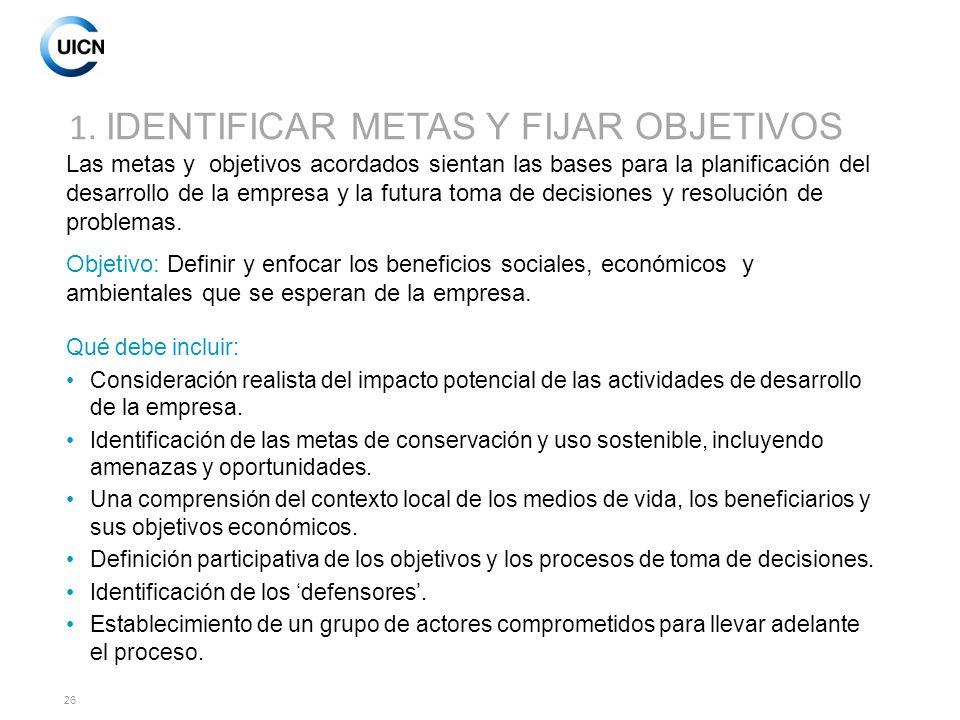 1. IDENTIFICAR METAS Y FIJAR OBJETIVOS