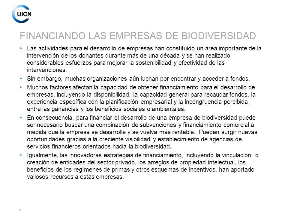 FINANCIANDO LAS EMPRESAS DE BIODIVERSIDAD