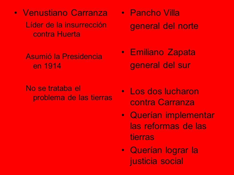 Los dos lucharon contra Carranza