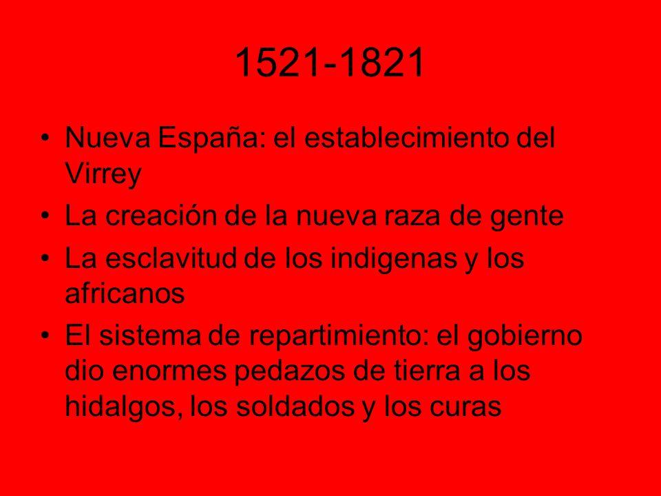 1521-1821 Nueva España: el establecimiento del Virrey