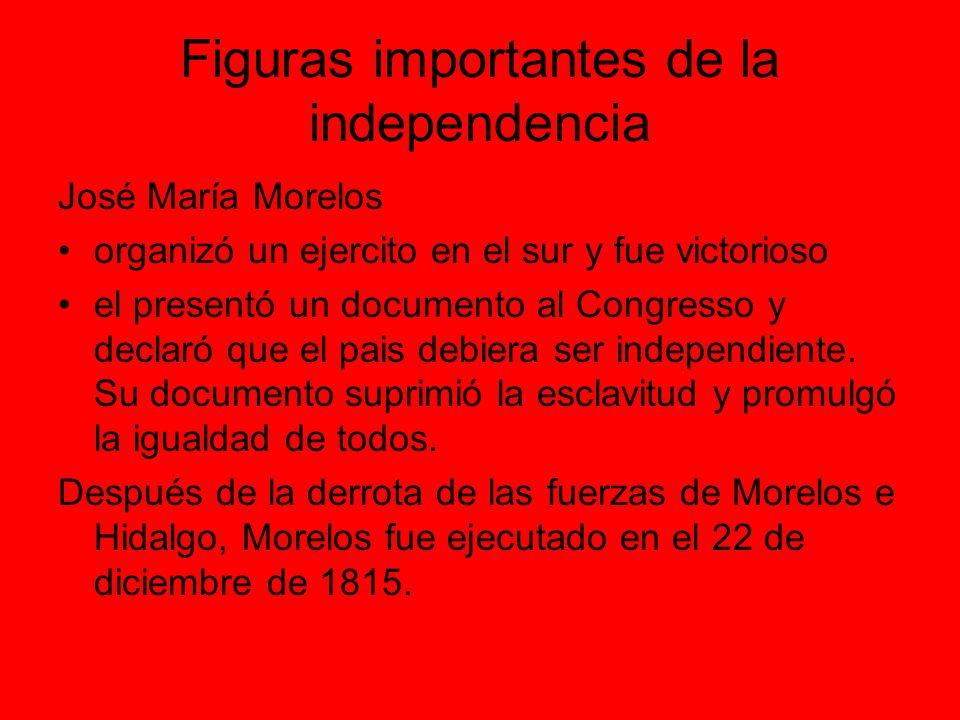 Figuras importantes de la independencia