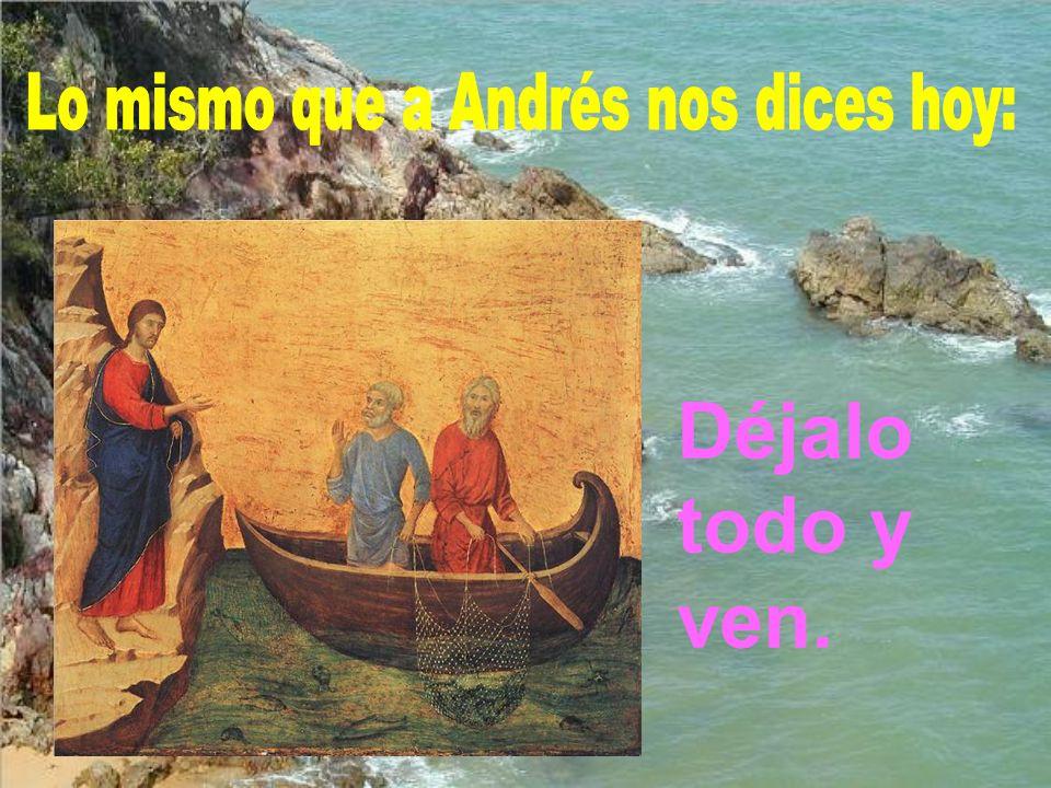 Lo mismo que a Andrés nos dices hoy:
