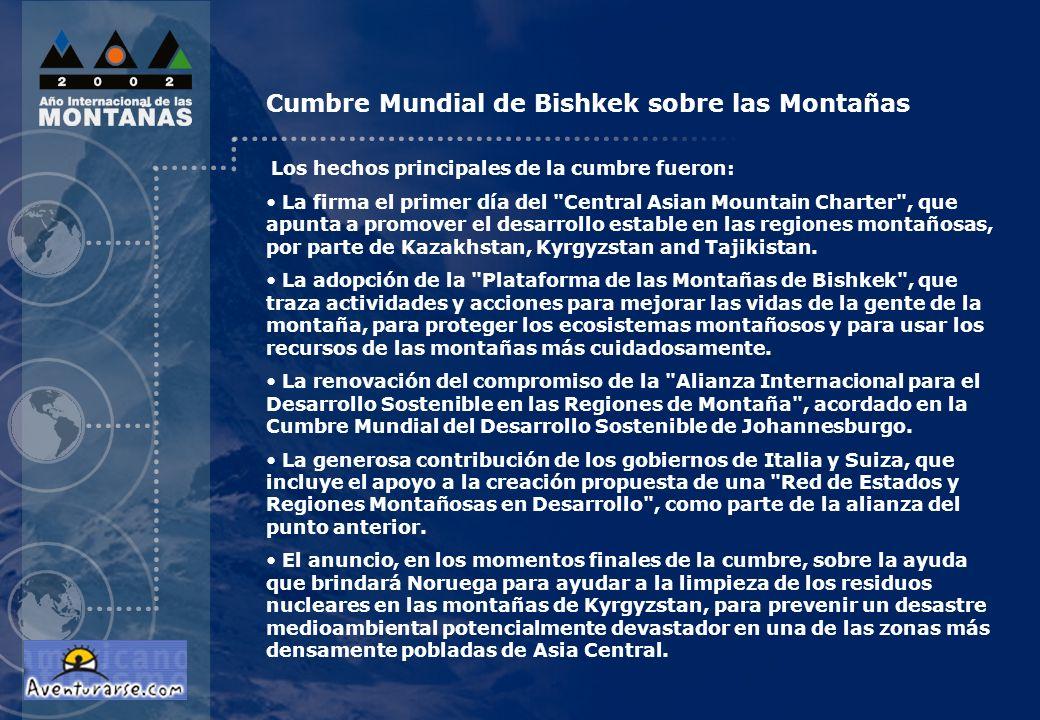 Cumbre Mundial de Bishkek sobre las Montañas