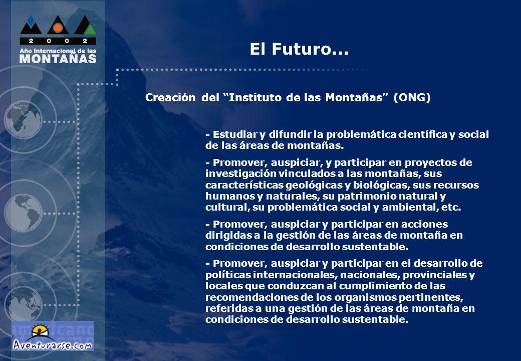 El Futuro... Creación del Instituto de las Montañas (ONG)