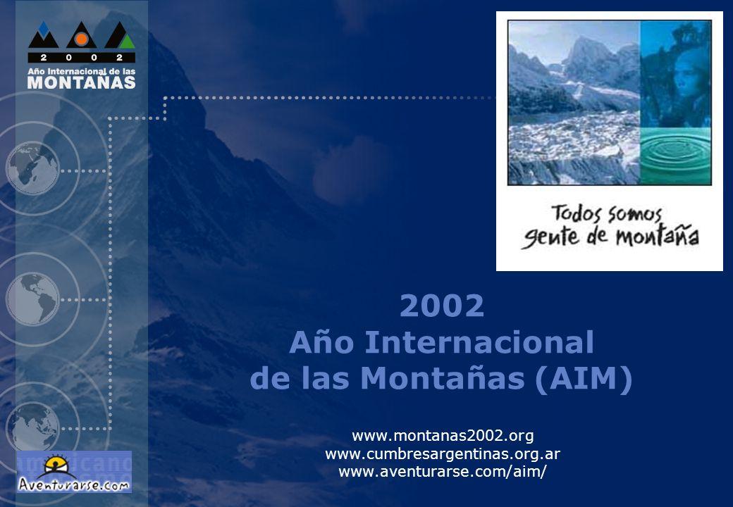 2002 Año Internacional de las Montañas (AIM)