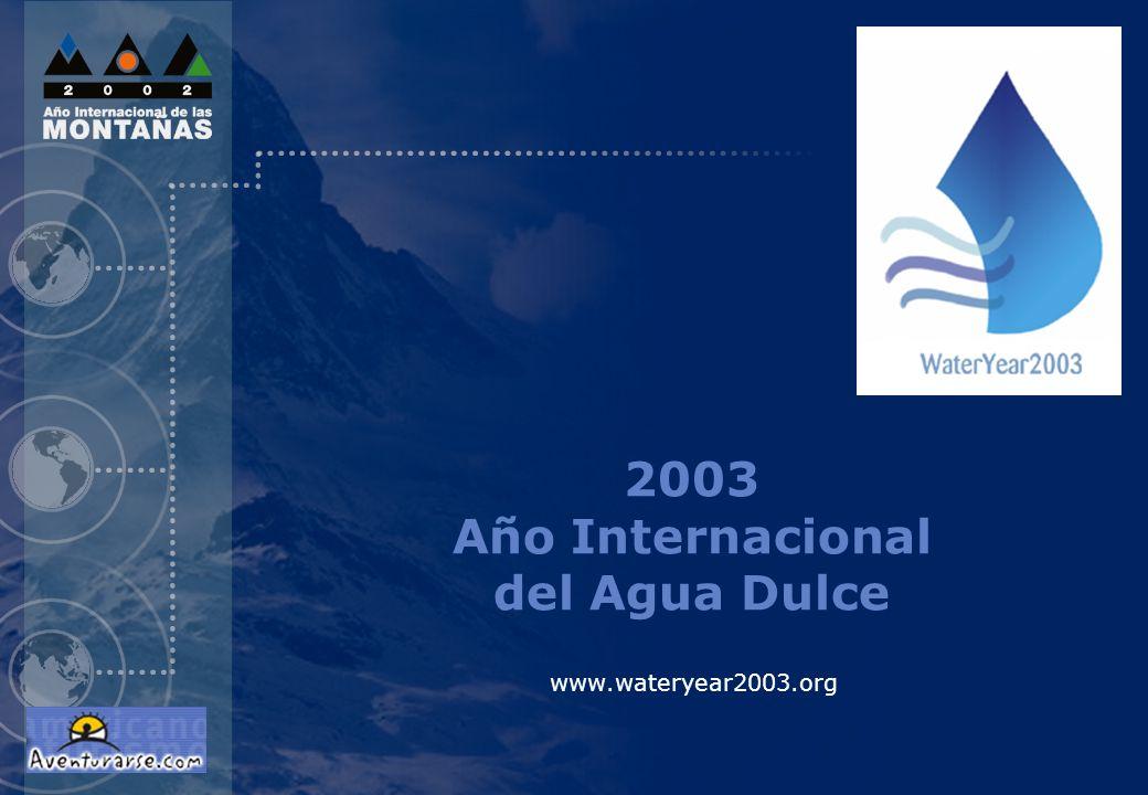 2003 Año Internacional del Agua Dulce
