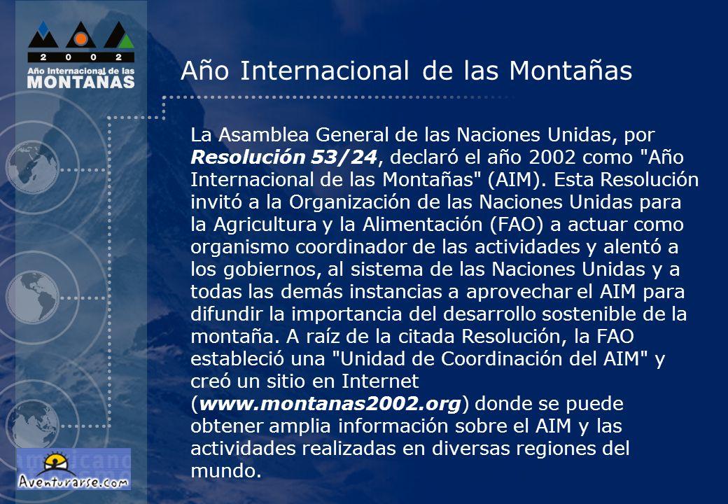 Año Internacional de las Montañas