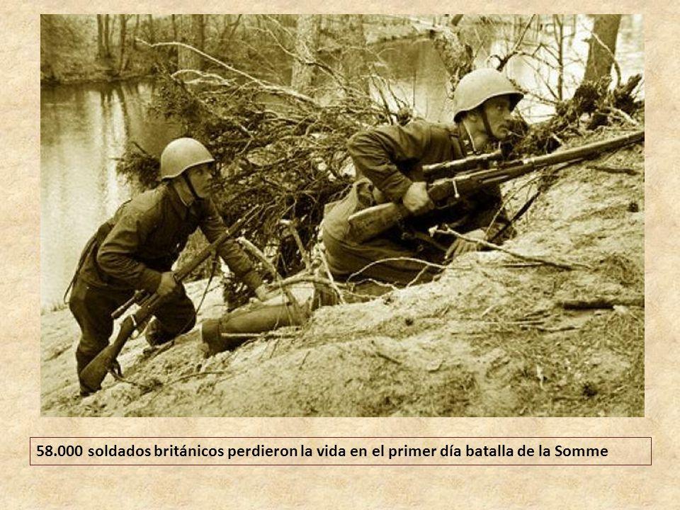 58.000 soldados británicos perdieron la vida en el primer día batalla de la Somme