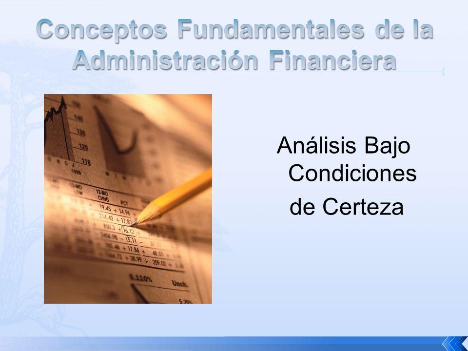 Conceptos Fundamentales de la Administración Financiera
