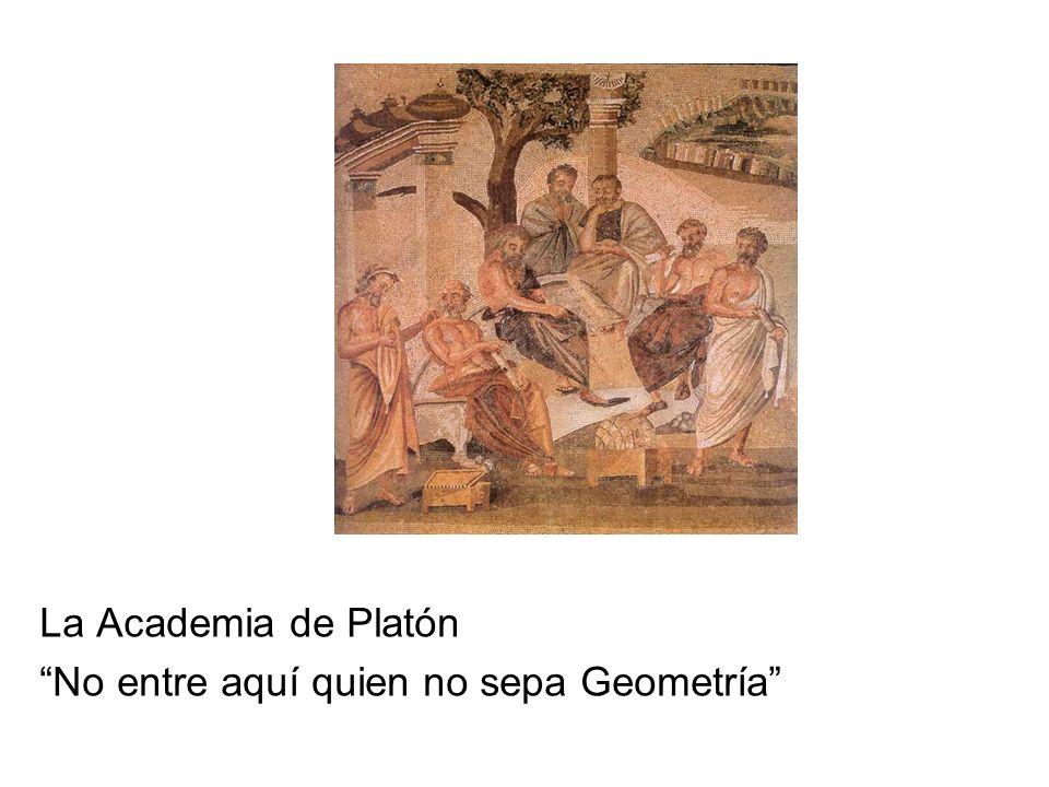 La Academia de Platón No entre aquí quien no sepa Geometría