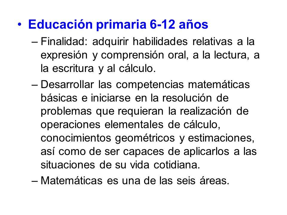 Educación primaria 6-12 años