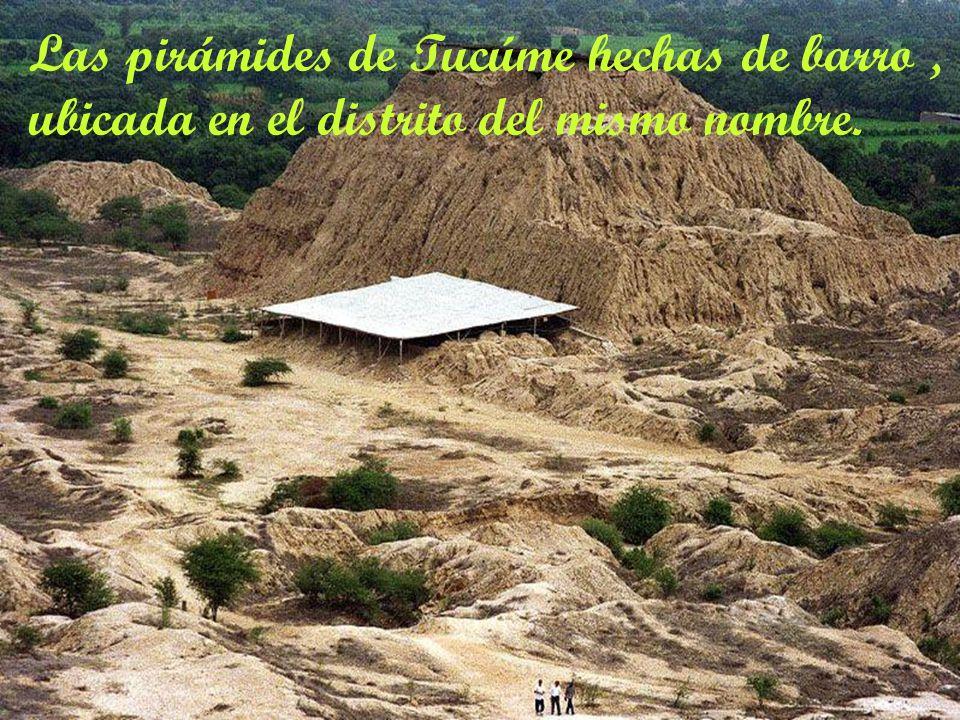 Las pirámides de Tucúme hechas de barro ,
