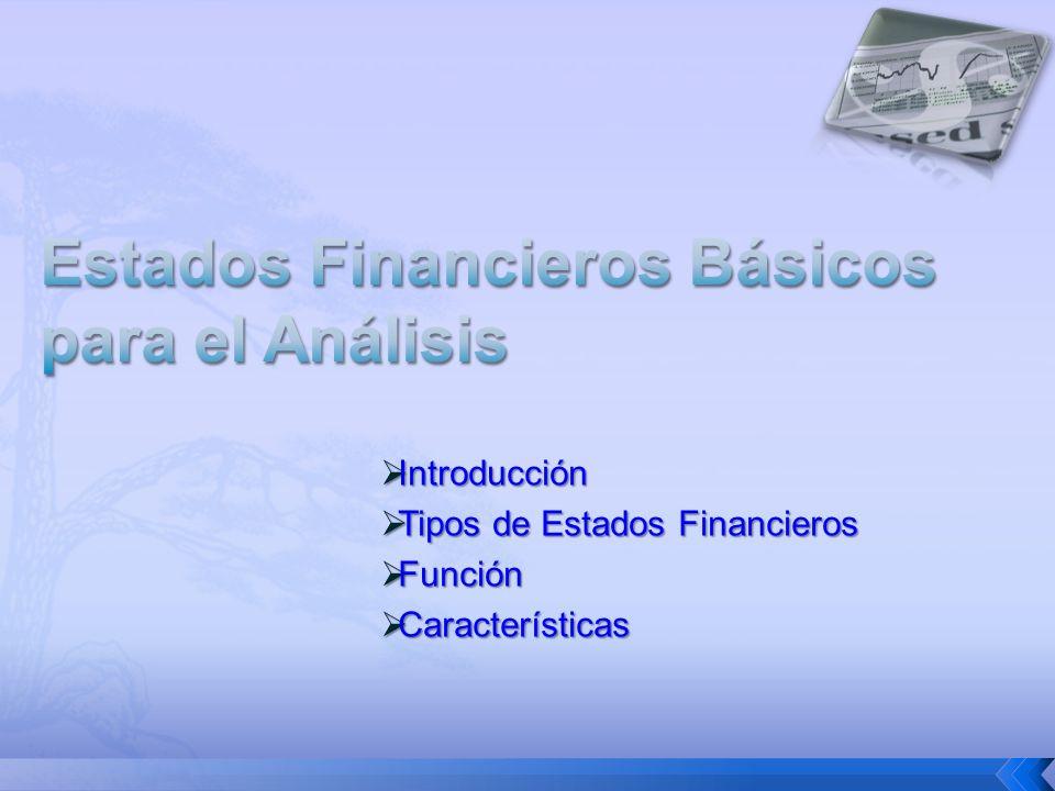 Estados Financieros Básicos para el Análisis