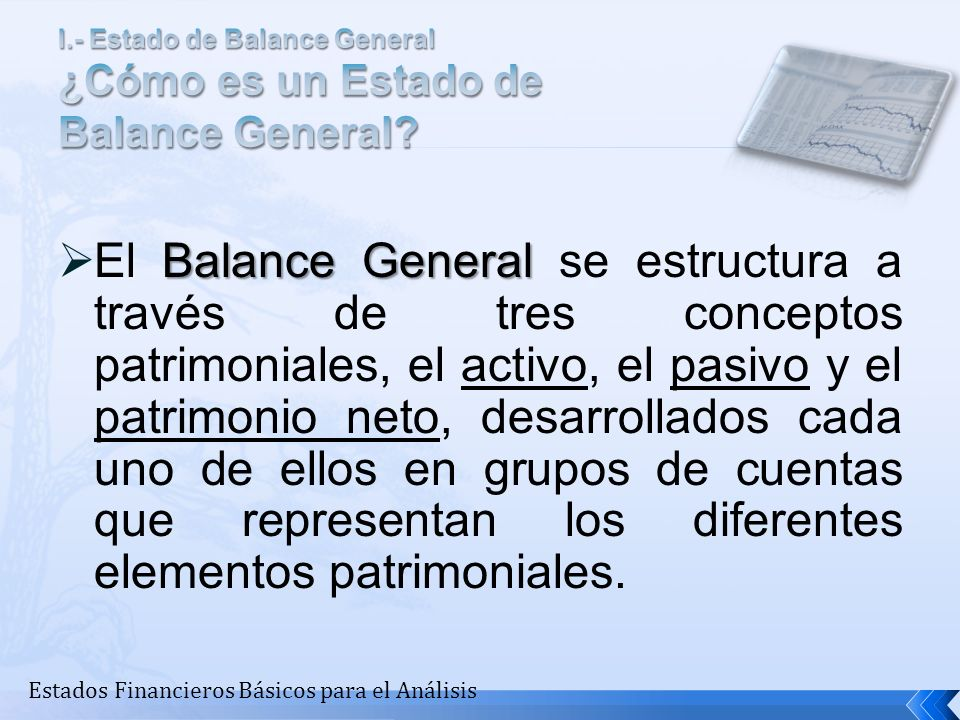 I.- Estado de Balance General ¿Cómo es un Estado de Balance General