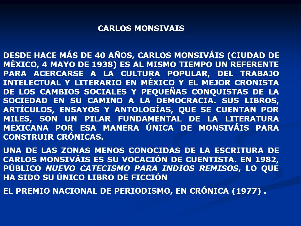 CARLOS MONSIVAIS