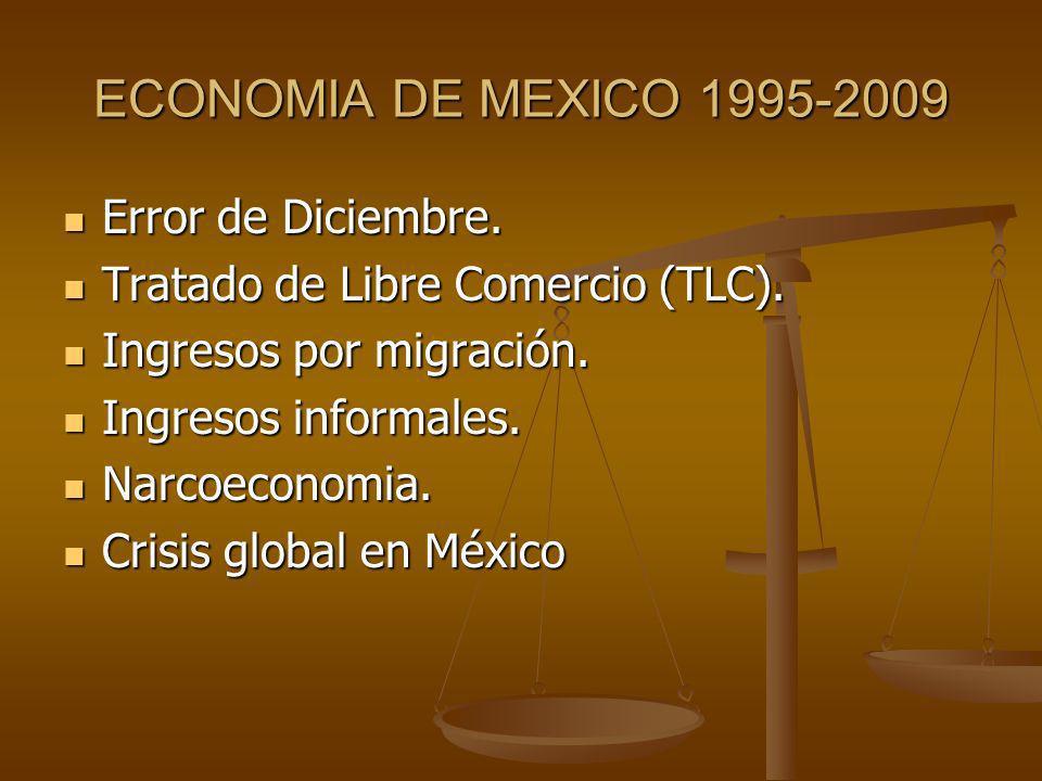 ECONOMIA DE MEXICO 1995-2009 Error de Diciembre.