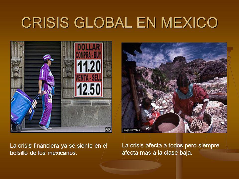 CRISIS GLOBAL EN MEXICO