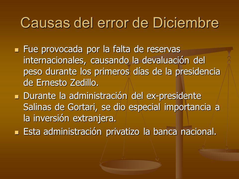 Causas del error de Diciembre