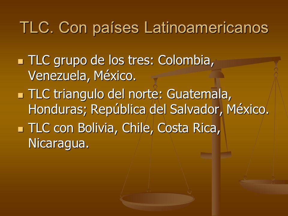TLC. Con países Latinoamericanos
