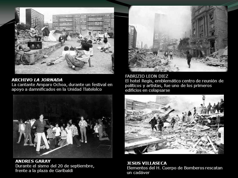 FABRIZIO LEON DIEZ El hotel Regis, emblemático centro de reunión de políticos y artistas, fue uno de los primeros edificios en colapsarse.