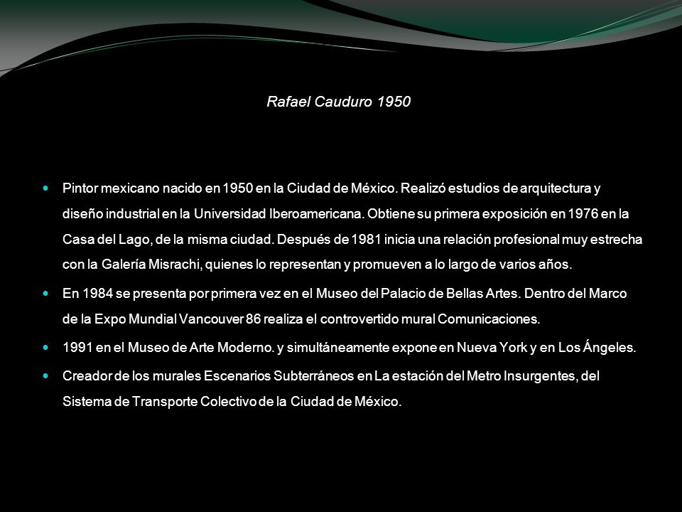 Rafael Cauduro 1950