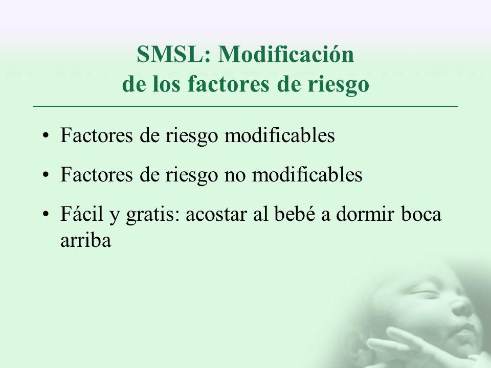 SMSL: Modificación de los factores de riesgo