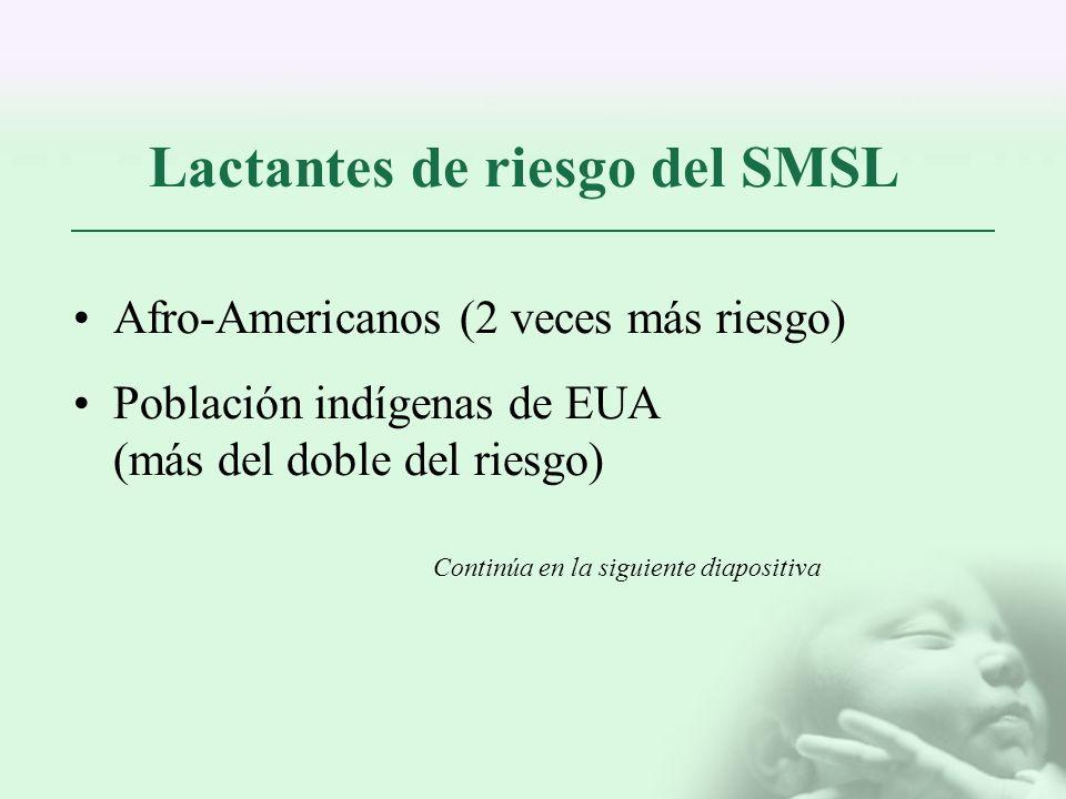 Lactantes de riesgo del SMSL