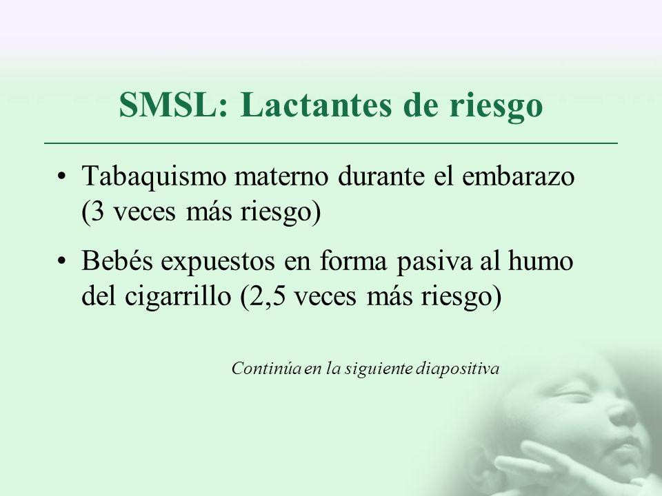 SMSL: Lactantes de riesgo