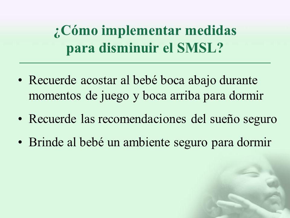 ¿Cómo implementar medidas para disminuir el SMSL