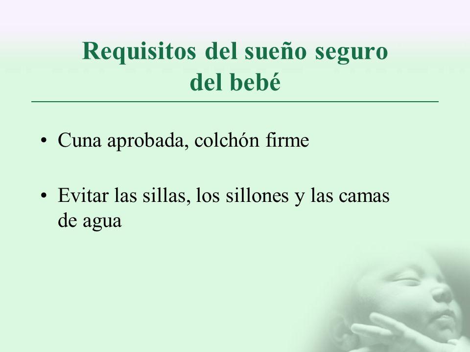 Requisitos del sueño seguro del bebé
