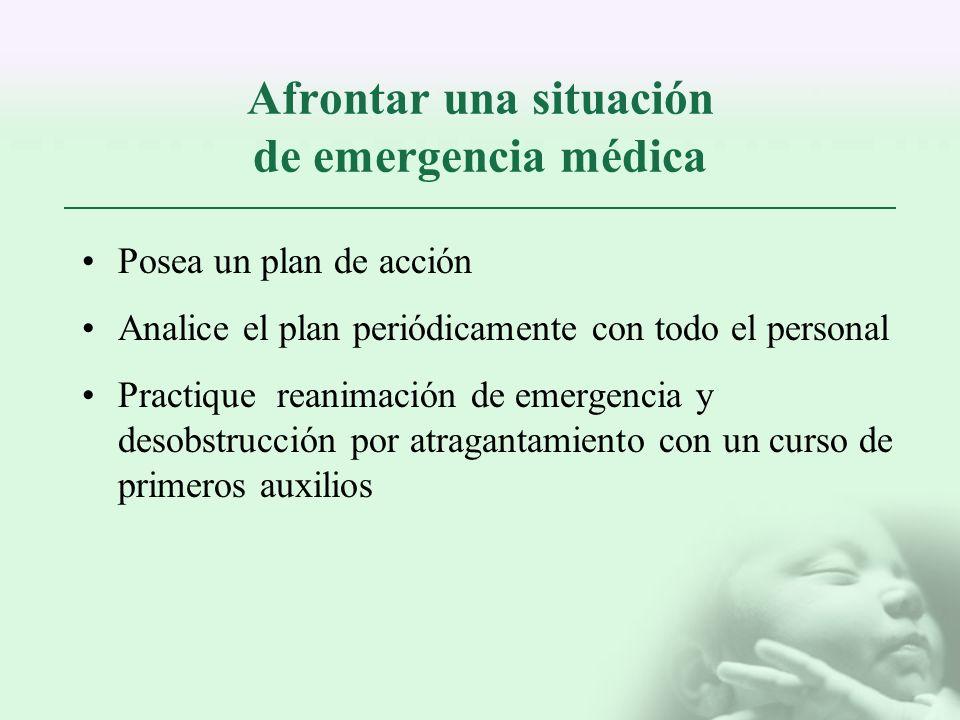 Afrontar una situación de emergencia médica