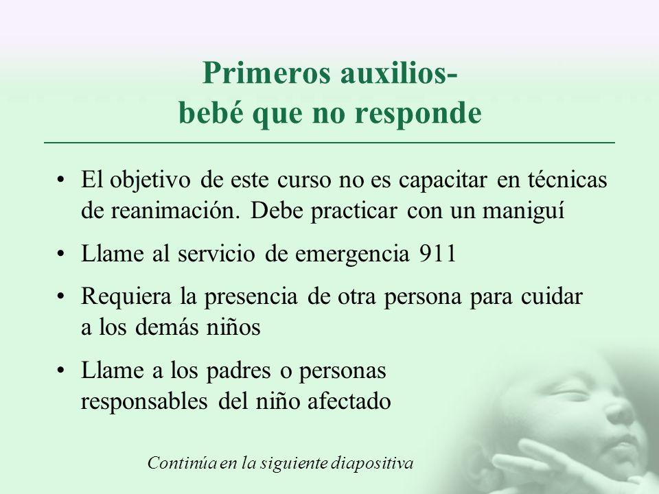 Primeros auxilios- bebé que no responde