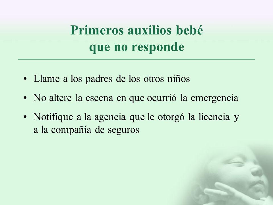 Primeros auxilios bebé que no responde