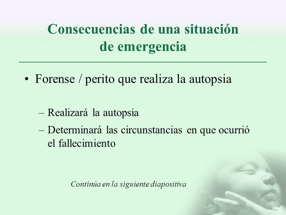 Consecuencias de una situación de emergencia