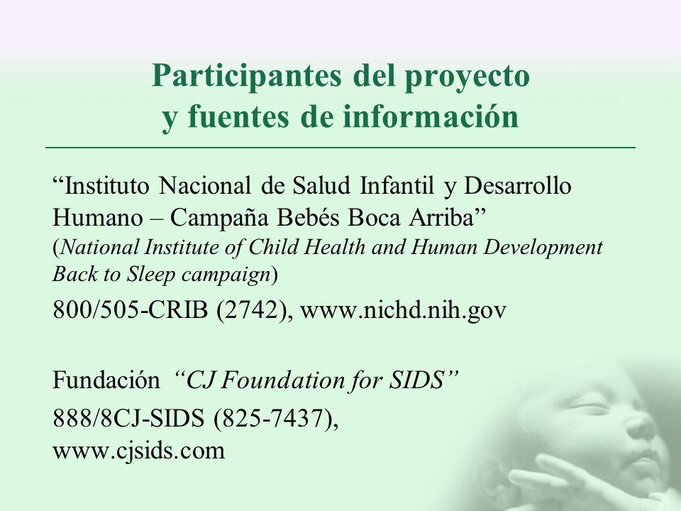 Participantes del proyecto y fuentes de información