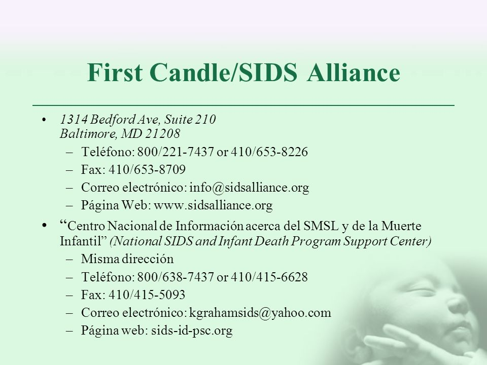 First Candle/SIDS Alliance